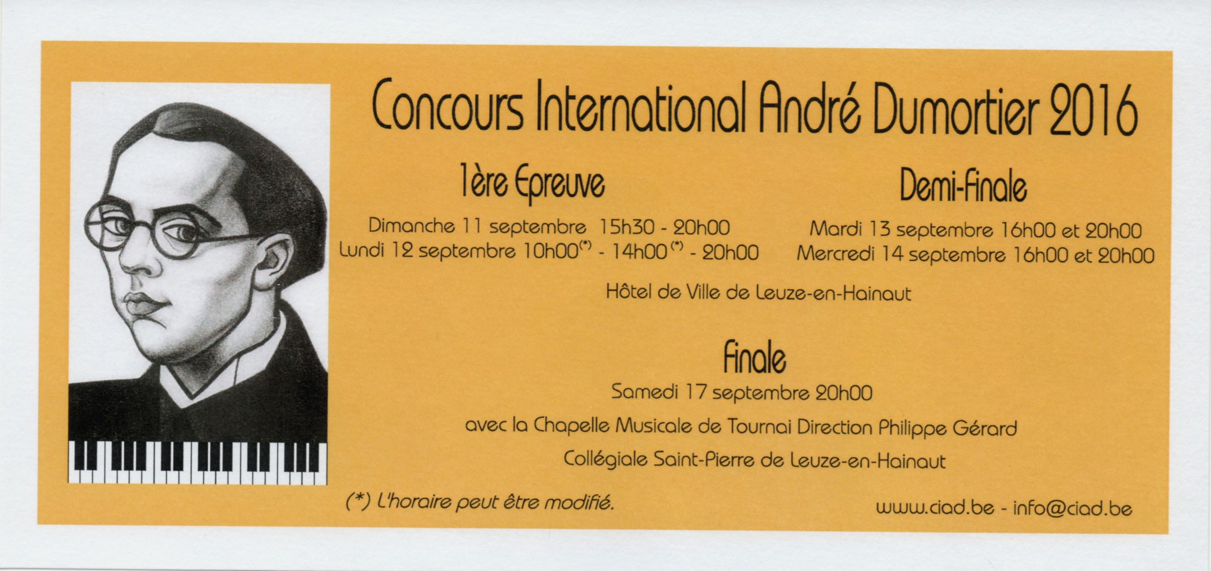 Concours international de piano André Dumortier 2016